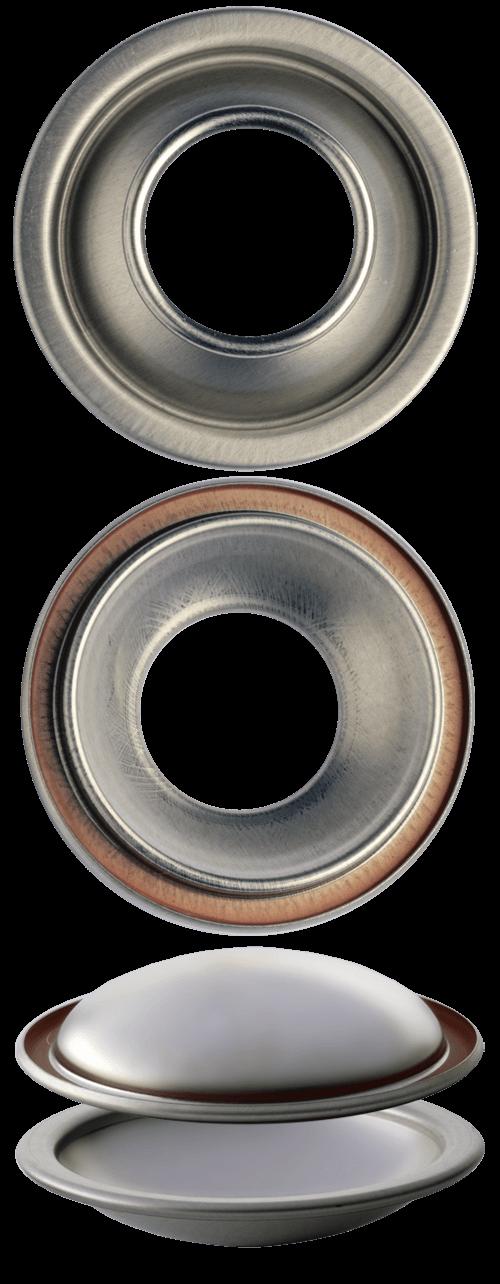 C48 F50 cupole fondi per bombole aerosol