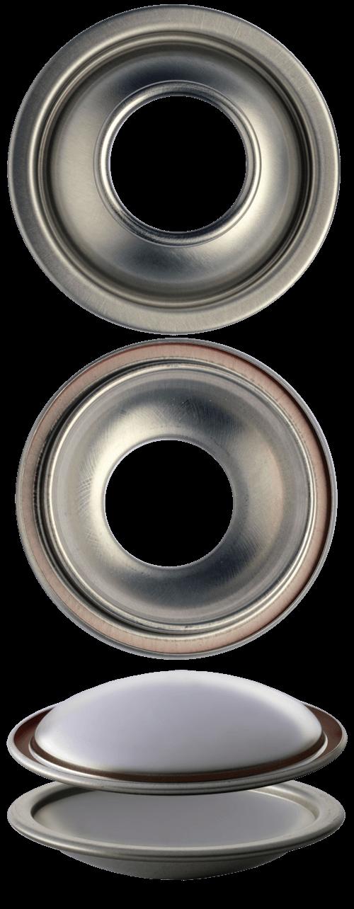 C52 F54 cupole fondi per bombole aerosol